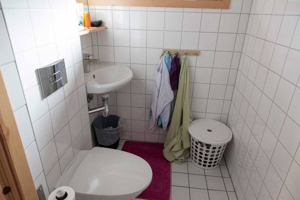 Alle elever får eget bad på folkehøgskolen.