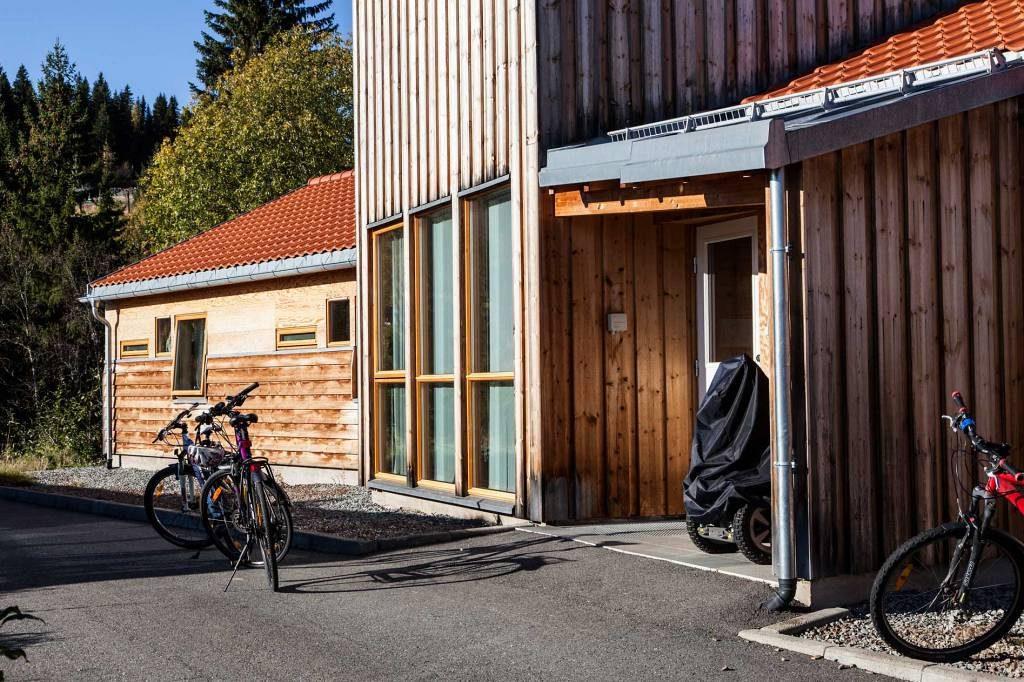 Inngangsparti til hus 1 på Peder Morset Folkehøgskole.