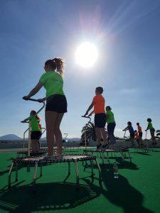 Trampoline fitness i Lanzarote med Flexi linja.