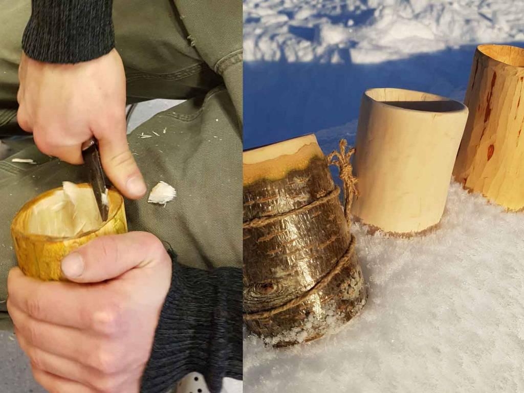Treskjæring av kopper.