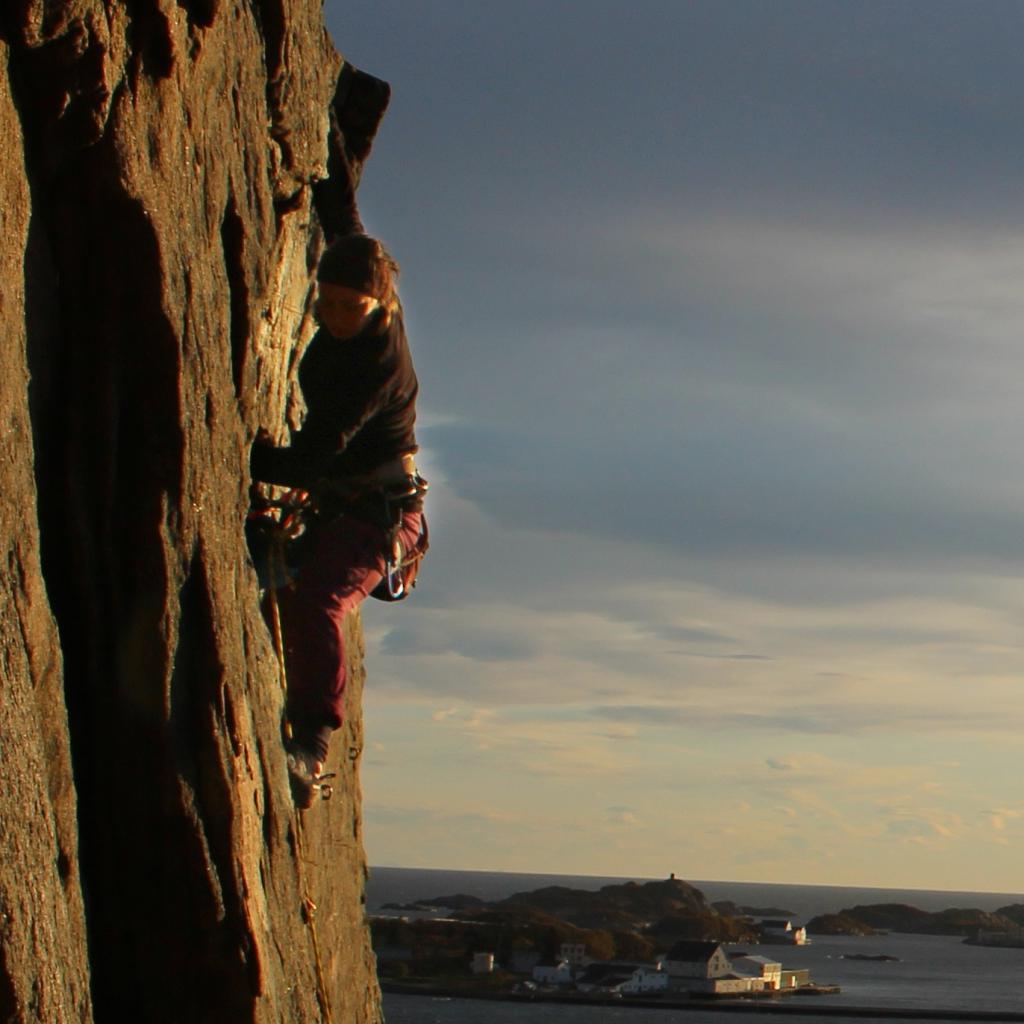 Klatring i Lofoten.